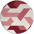 rug #1142307 | round pink retro rug