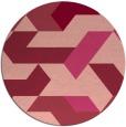 rug #1142311 | round pink graphic rug