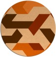 rug #1142355 | round red-orange abstract rug