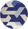 rug #1142375 | round white abstract rug