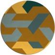 rug #1142407   round retro rug