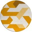 rug #1142431   round light-orange retro rug