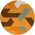 rug #1142439 | round light-orange graphic rug