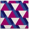 rug #1142915 | square blue-violet retro rug