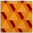rug #1143023 | square orange retro rug