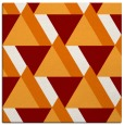 rug #1143027 | square orange retro rug