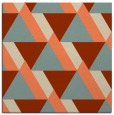 rug #1143031 | square orange abstract rug
