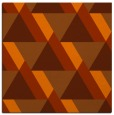 rug #1143087 | square red-orange geometry rug