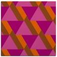 rug #1143095 | square red-orange geometry rug