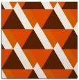 rug #1143099 | square red-orange retro rug