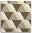 rug #1143135 | square yellow retro rug