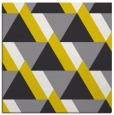 rug #1143139 | square yellow retro rug