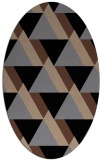 rug #1143201 | oval abstract rug