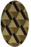 rug #1143203 | oval mid-brown rug