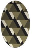 rug #1143207 | oval black retro rug