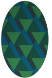 rug #1143247   oval blue retro rug
