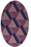 rug #1143279 | oval purple geometry rug