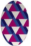 rug #1143283   oval blue-violet geometry rug