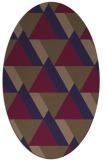 rug #1143287 | oval beige geometry rug