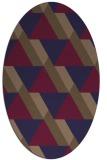 rug #1143289 | oval retro rug