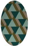 rug #1143295 | oval brown retro rug