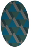 rug #1143311 | oval green geometry rug