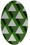 rug #1143323 | oval green abstract rug