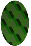 rug #1143387 | oval green popular rug