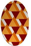 rug #1143395 | oval orange retro rug