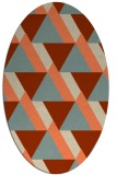 rug #1143399   oval orange retro rug