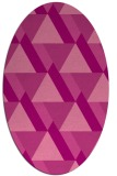rug #1143407 | oval pink retro rug