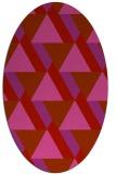 rug #1143451 | oval pink retro rug