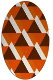 rug #1143467 | oval red-orange retro rug