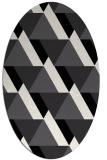 rug #1143471 | oval white abstract rug