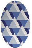 rug #1143479 | oval white abstract rug
