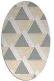 rug #1143487 | oval beige popular rug