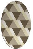 rug #1143503 | oval yellow retro rug