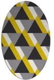 rug #1143507 | oval yellow abstract rug