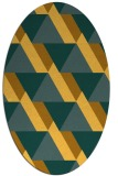 rug #1143511 | oval light-orange abstract rug
