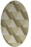 rug #1143523 | oval light-green rug