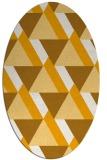 rug #1143535   oval light-orange abstract rug
