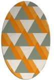 rug #1143543 | oval light-orange rug