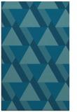 rug #1143619 |  blue-green retro rug