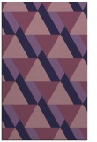 rug #1143647 |  blue-violet retro rug