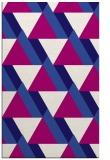 rug #1143651 |  blue-violet retro rug
