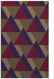 rug #1143655 |  blue-violet retro rug