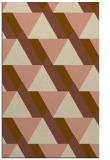 rug #1143699 |  mid-brown retro rug