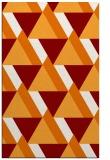 rug #1143763    orange retro rug