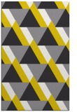 rug #1143875 |  yellow retro rug