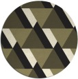 rug #1143943 | round black abstract rug